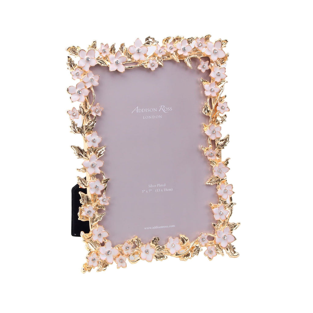 Gold & White Flower Frame