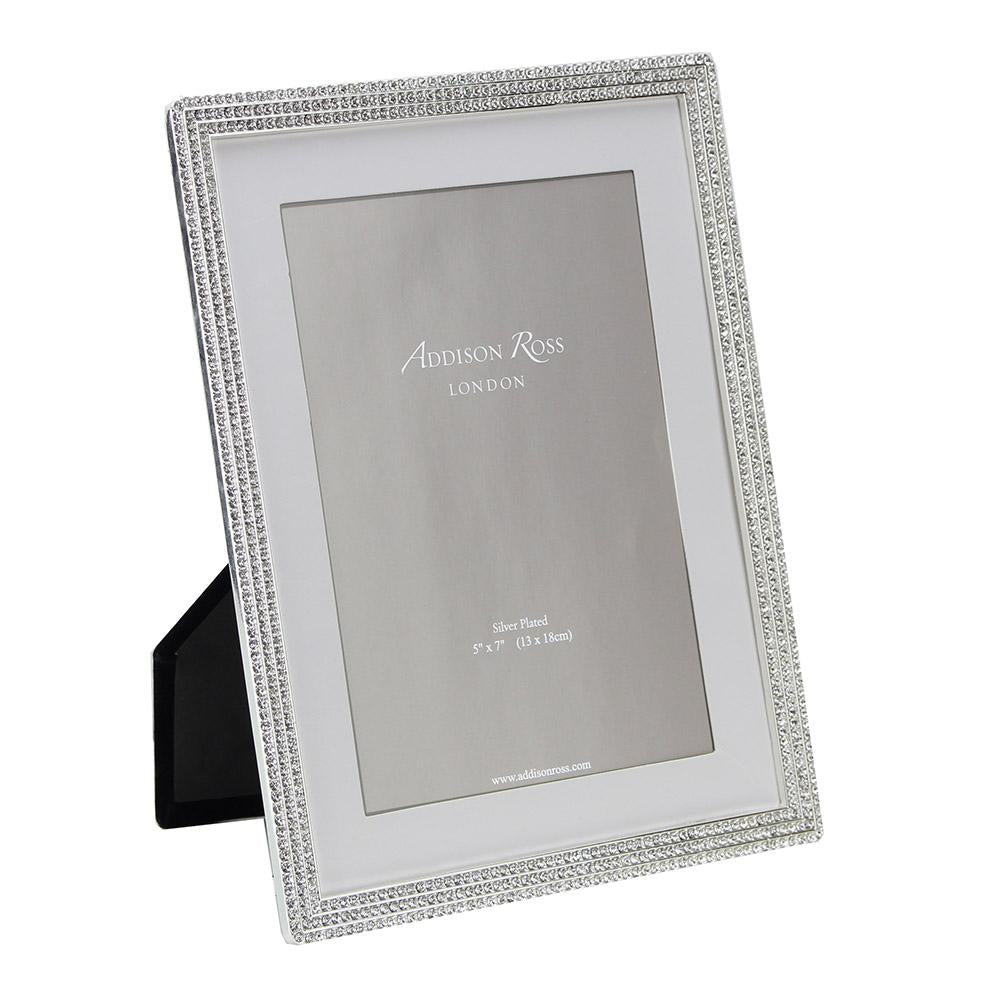 Silver Beatrice Diamante Frame