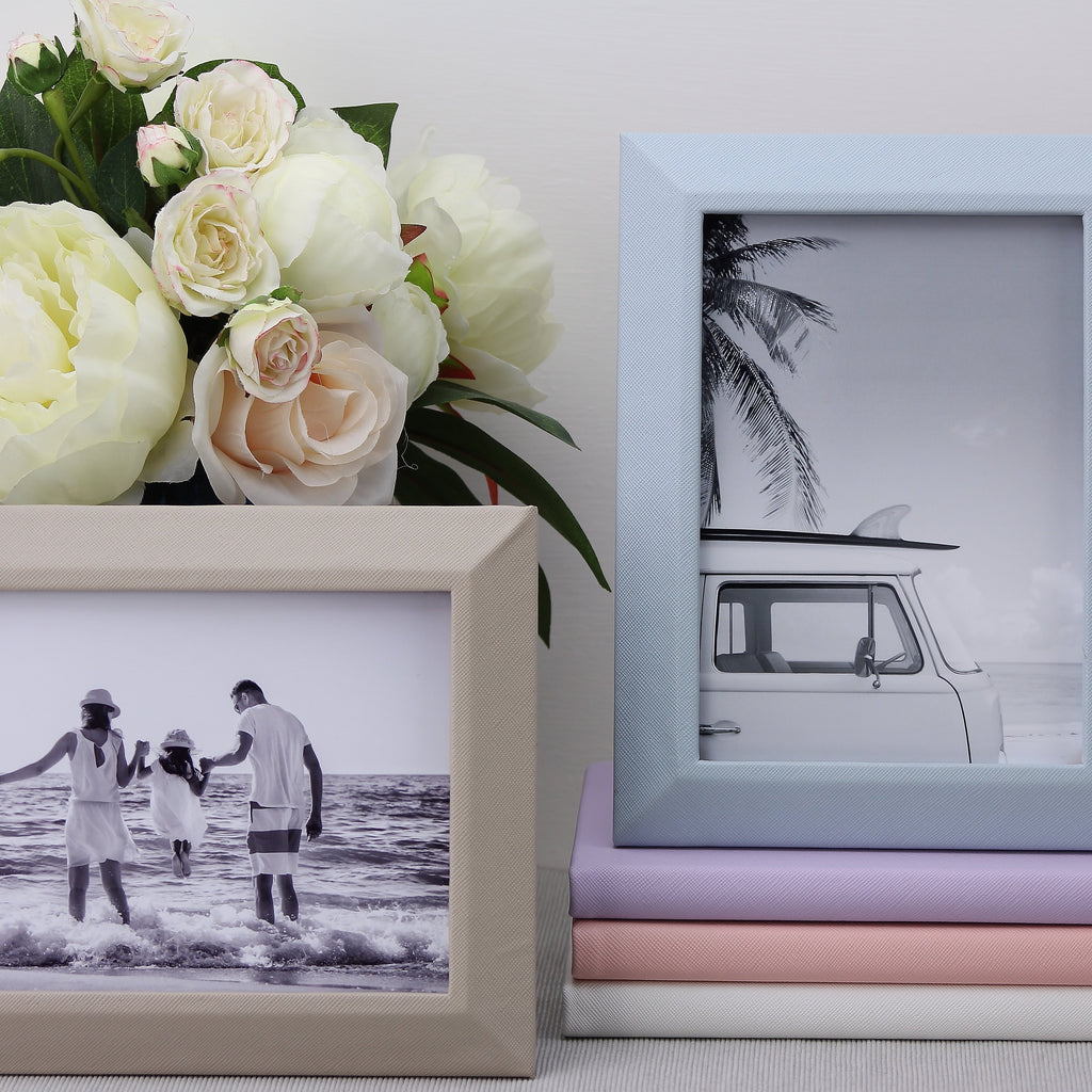 Grey Leather Photo Frame - Leather Frames - Addison Ross