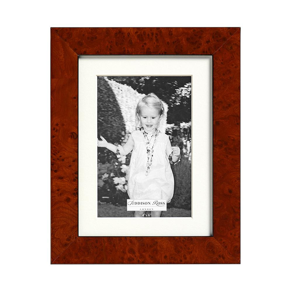 Walnut Poplar Photo Frame with Mount - Wood Frames - Addison Ross