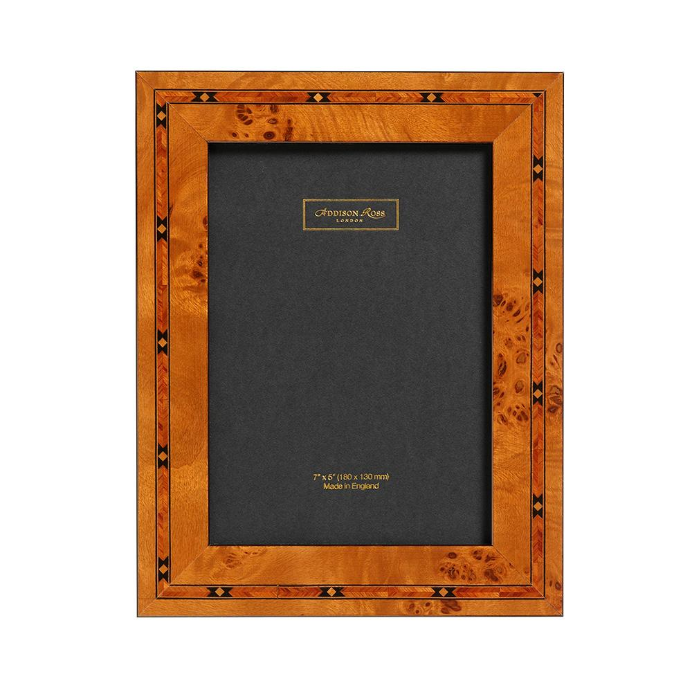 Brown Star Marquetry Photo Frame - Wood Frames - Addison Ross