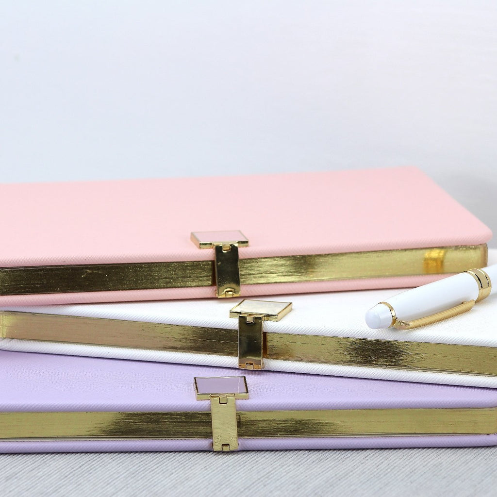 Lilac & Gold Notebook - Notebooks - Addison Ross