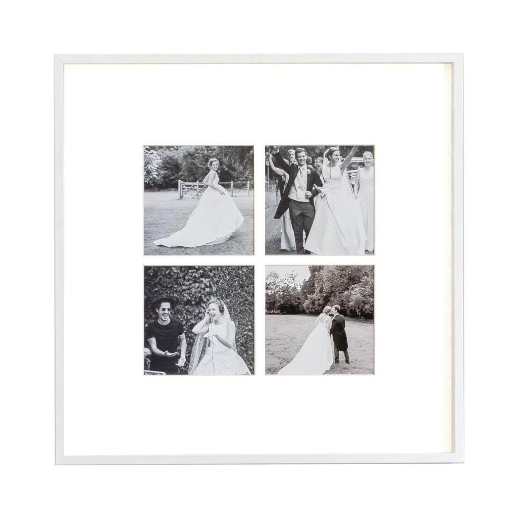 Four Aperture White Wall Hanging Frame