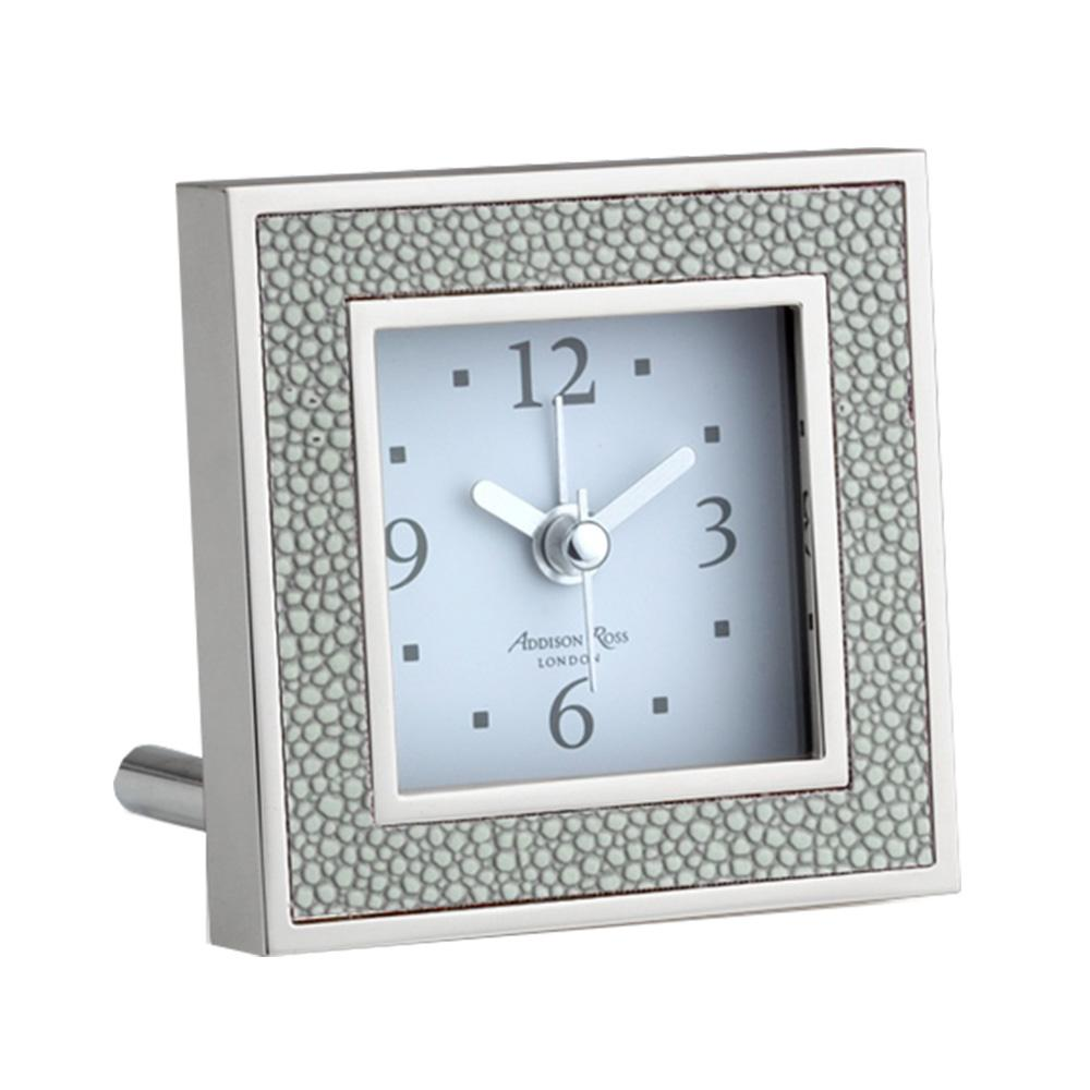 Grey Shagreen Square Alarm Clock - Clock - Addison Ross