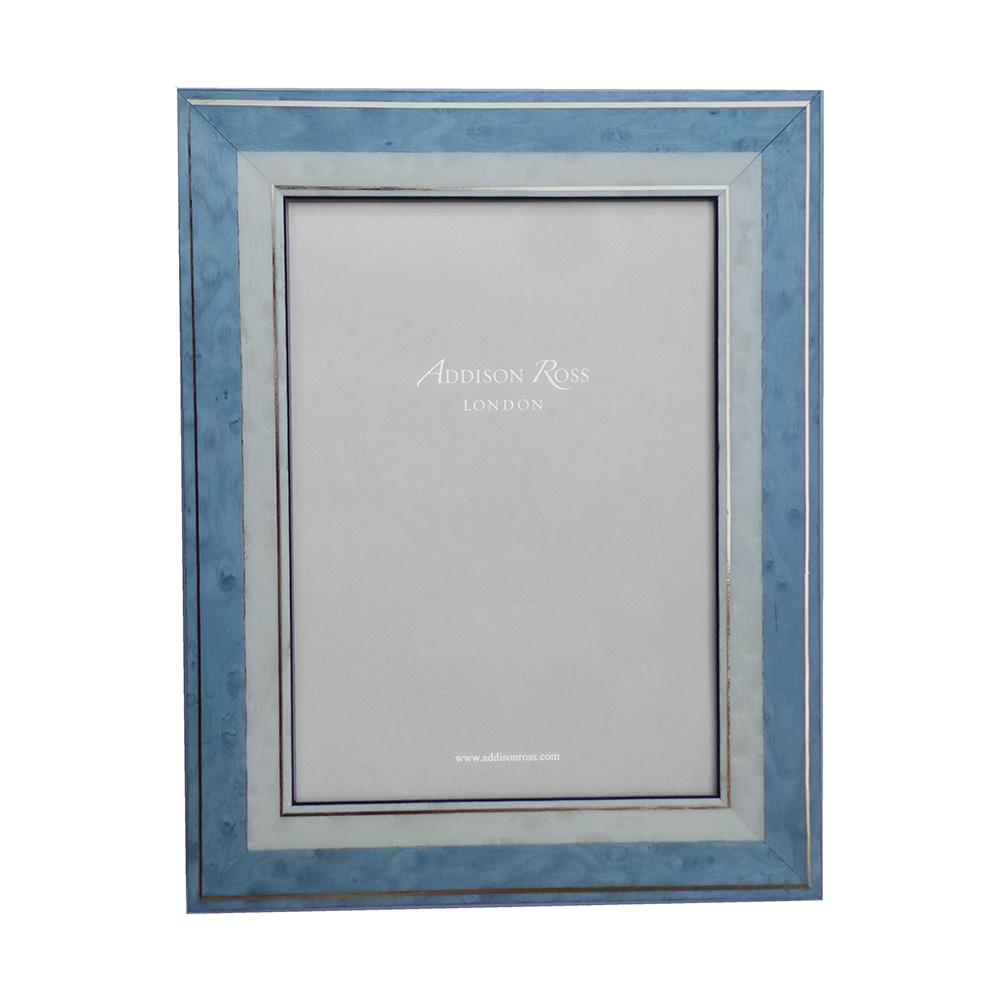 Lorena Blue Marquetry Frame - Wood Frames - Addison Ross