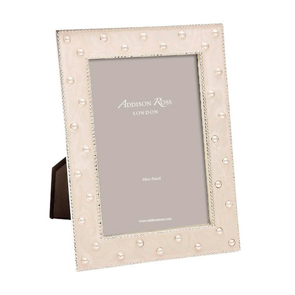 Pearl Cream Enamel Frame -  - Addison Ross