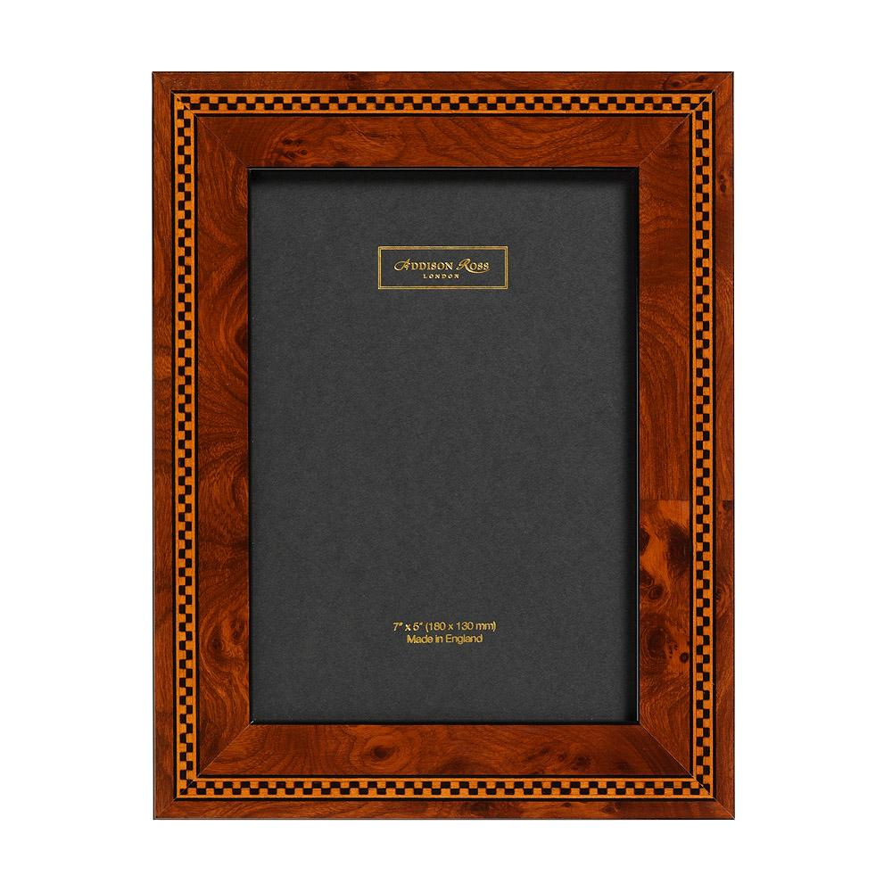 Brown Check Marquetry Frame - Wood Frames - Addison Ross