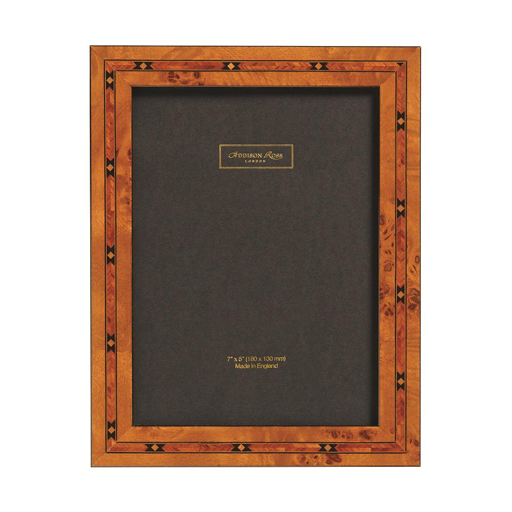 Brown Star 2cm Marquetry Frame - Wood Frames - Addison Ross
