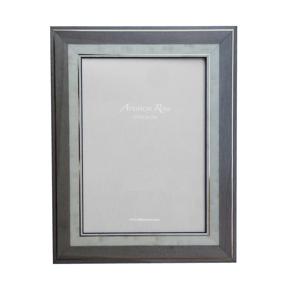 Lorena Grey Marquetry Frame - Wood Frames - Addison Ross