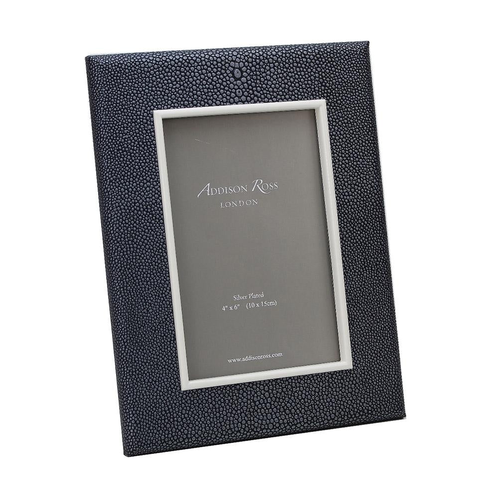 Dark Grey Shagreen Frame - Leather Frames - Addison Ross