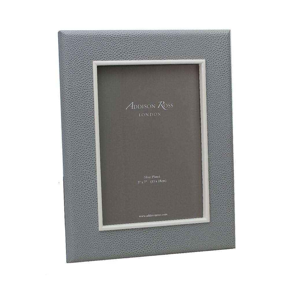Grey Shagreen Frame - Leather Frames - Addison Ross