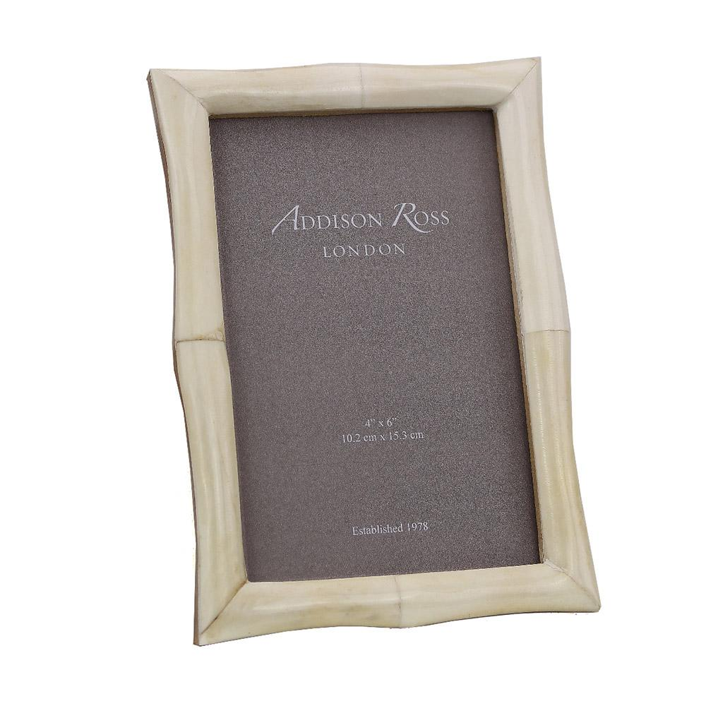 White Bone 4 x 6 Photo Frame - Exotic Frames - Addison Ross