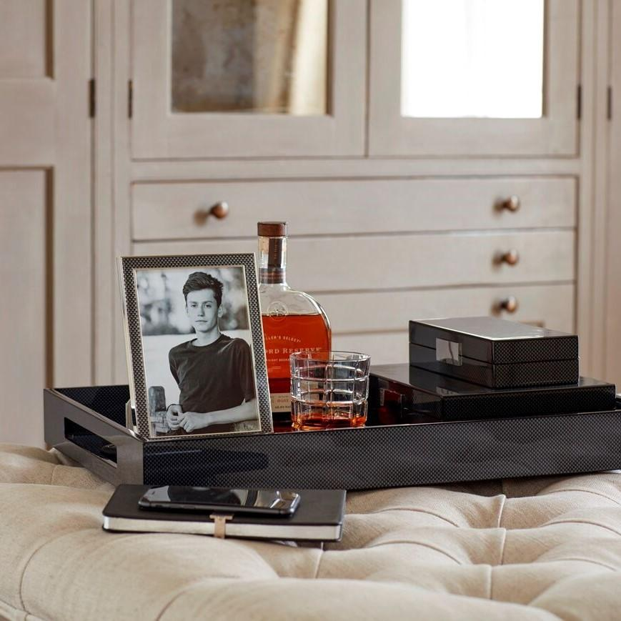 Carbon Fibre Large Lacquered Ottoman Tray