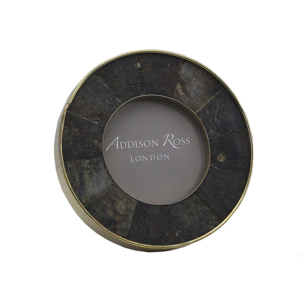 Black Horn Round Photo Frame