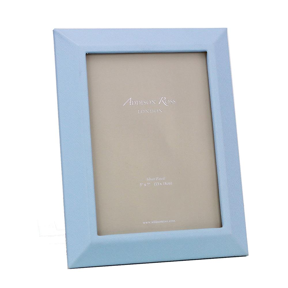 Blue Faux Leather Photo Frame - Leather Frames - Addison Ross