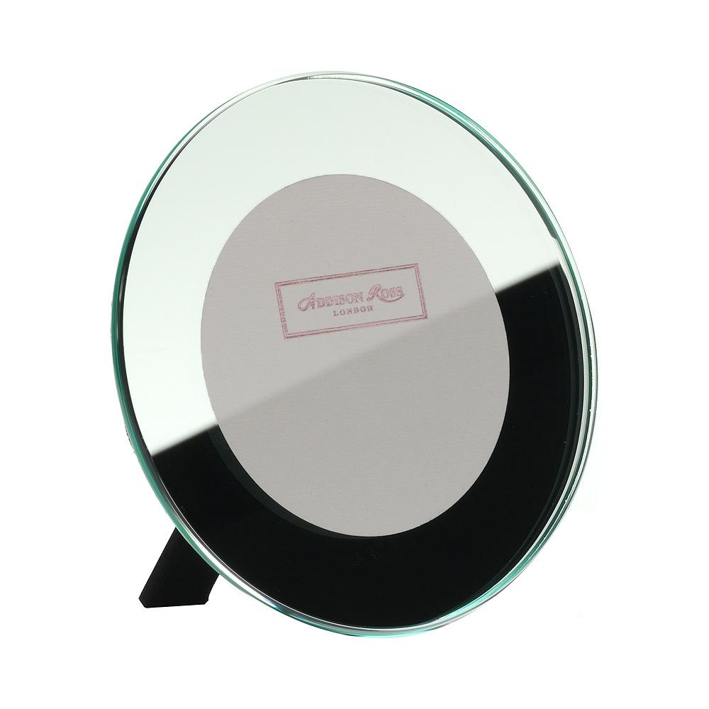3x3 Round Mirror Photo Frame - Glass Frames - Addison Ross