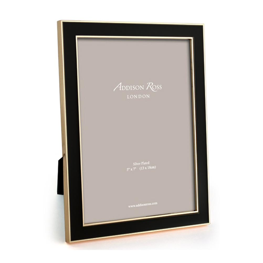 Black Enamel & Gold Frame
