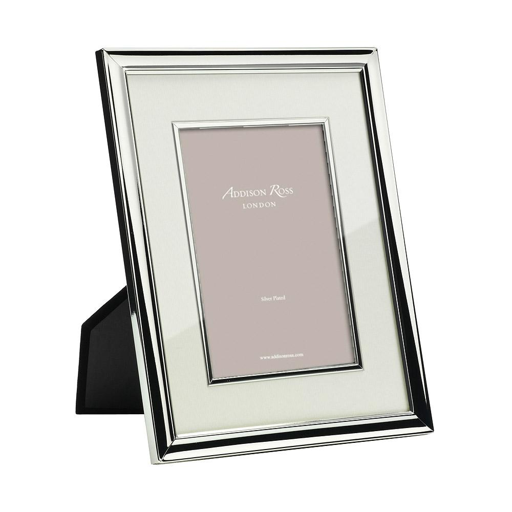 Silver Photo Frame with Cream Mount & Bezel - Silver Frames - Addison Ross