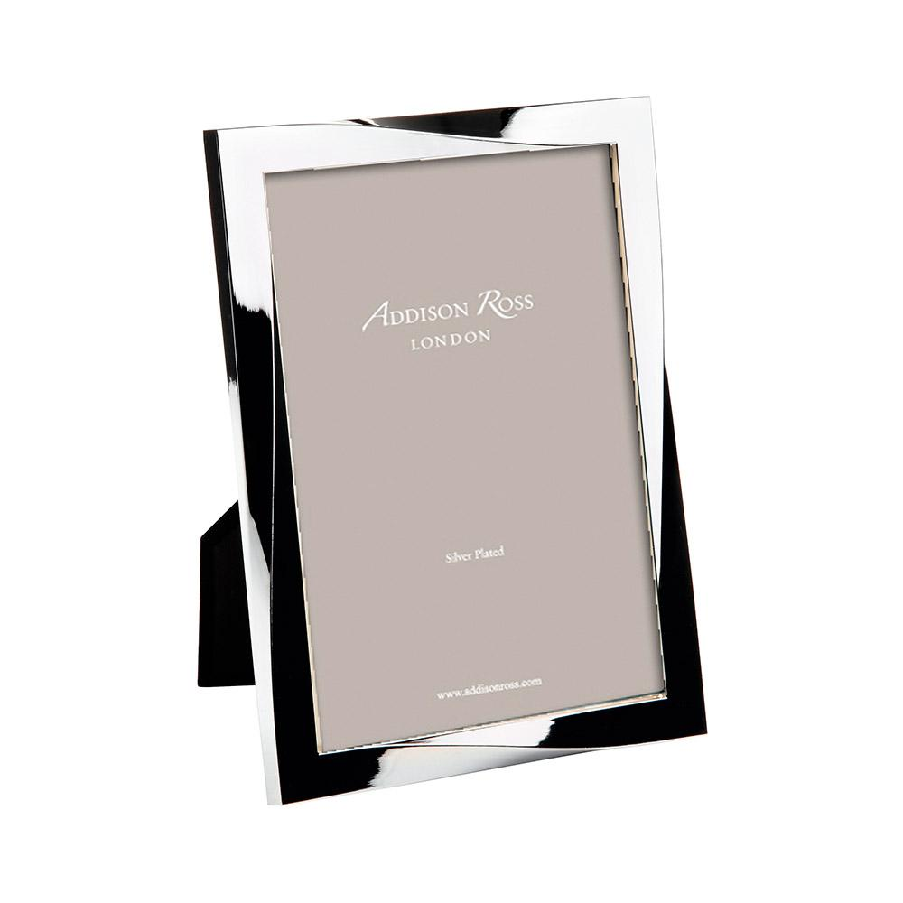 Silver Plated Twist Photo Frame - Silver Frames - Addison Ross
