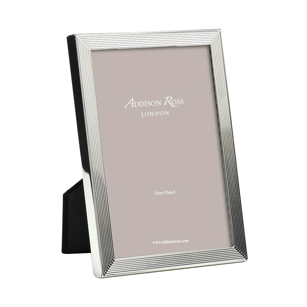 Grooved Silver Plate Photo Frame - Silver Frames - Addison Ross
