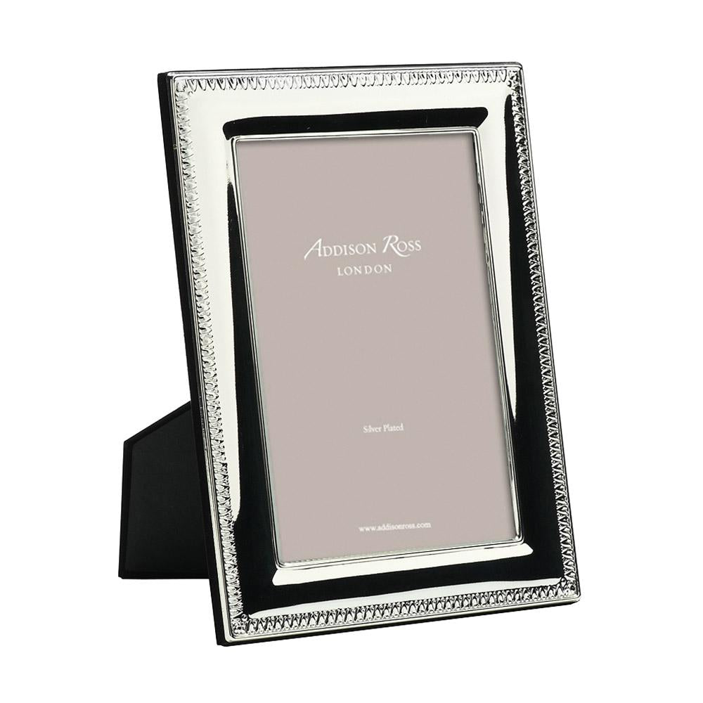Silver Tooth Pattern Photo Frame - Silver Frames - Addison Ross