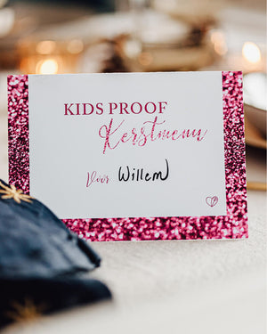 Kidsproof kerstmenu