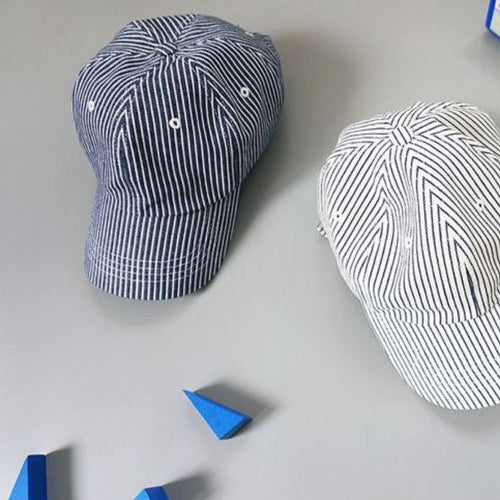 Navy Striped Ball Cap Basics Chou La La Fashion Inc.