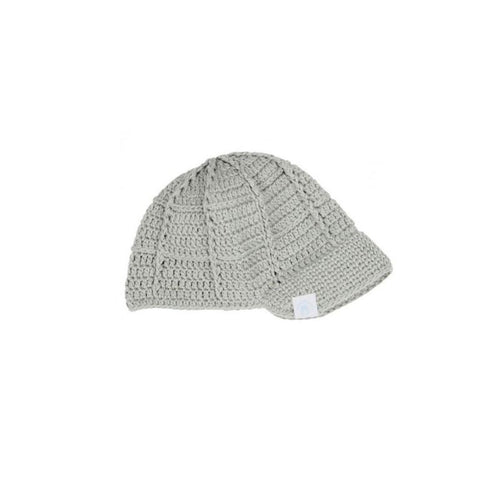 Gray Crochet Baseball Beanie Basics Chou La La Fashion Inc.