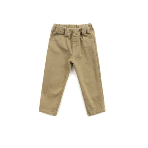 Battered Beige Denim Bottoms Basics Chou La La Fashion 2T-3T