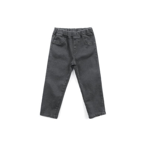Dusty Charcoal Denim Bottoms Basics Chou La La Fashion 4T-5T
