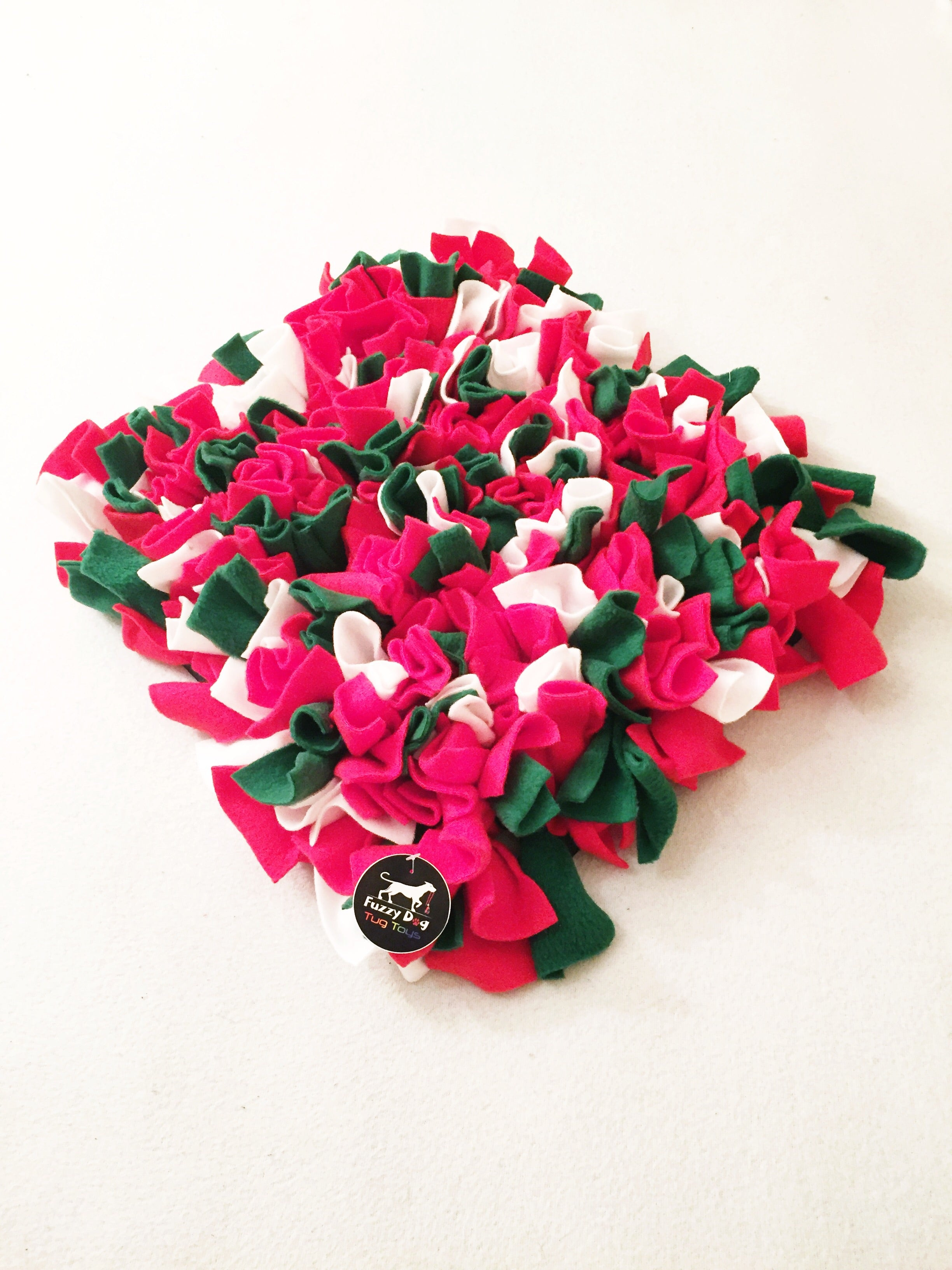 Christmas Fuzzy Dog Snuffle Mat
