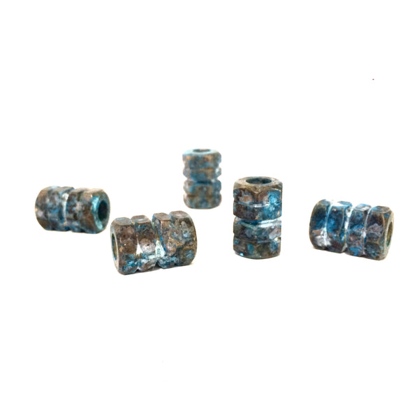 Ship Wreck Patina Brass Hex Bead