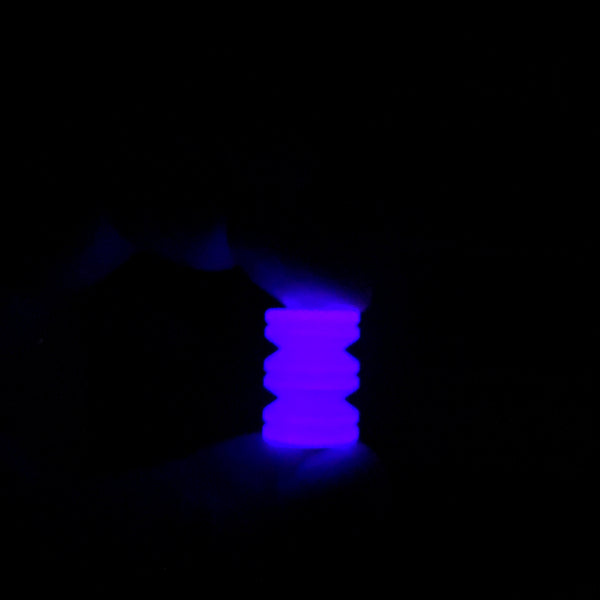 Purple Turbo Glow V Bead