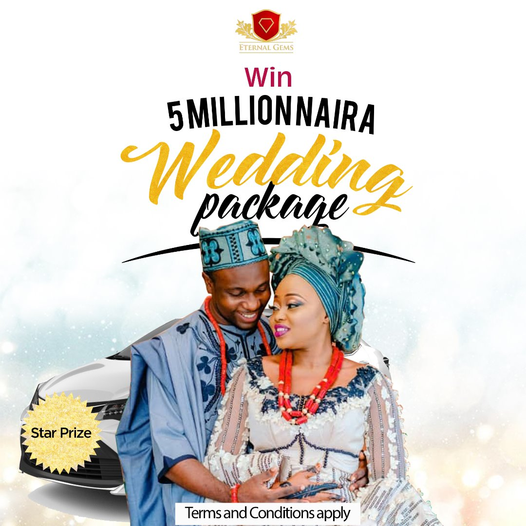 #5 MILLION NAIRA WEDDING GIVEAWAY PACKAGE