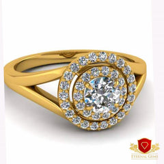 18 carat gold ring from eternal gems