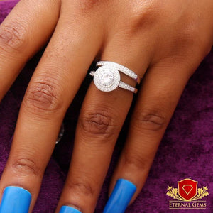 Bridal Sterling Silver Ring- Eternal Gems