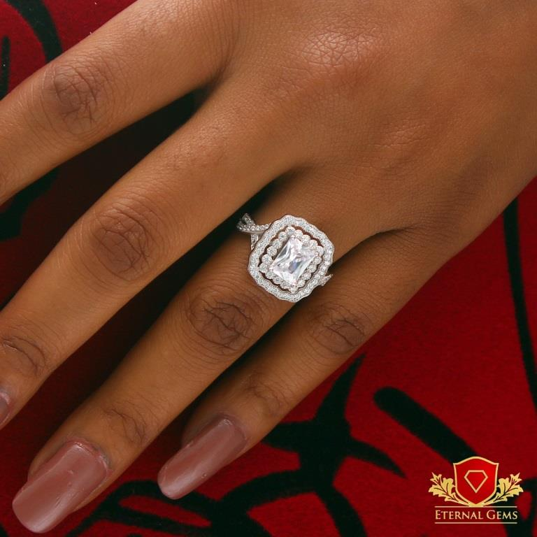 Sterling Silver Proposal Ring- Eternal Gems