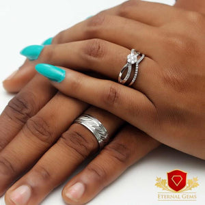 Sterling Silver Wedding Sets- Eternal Gems