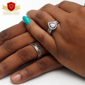 Sterling Silver Wedding Set- Eternal Gems