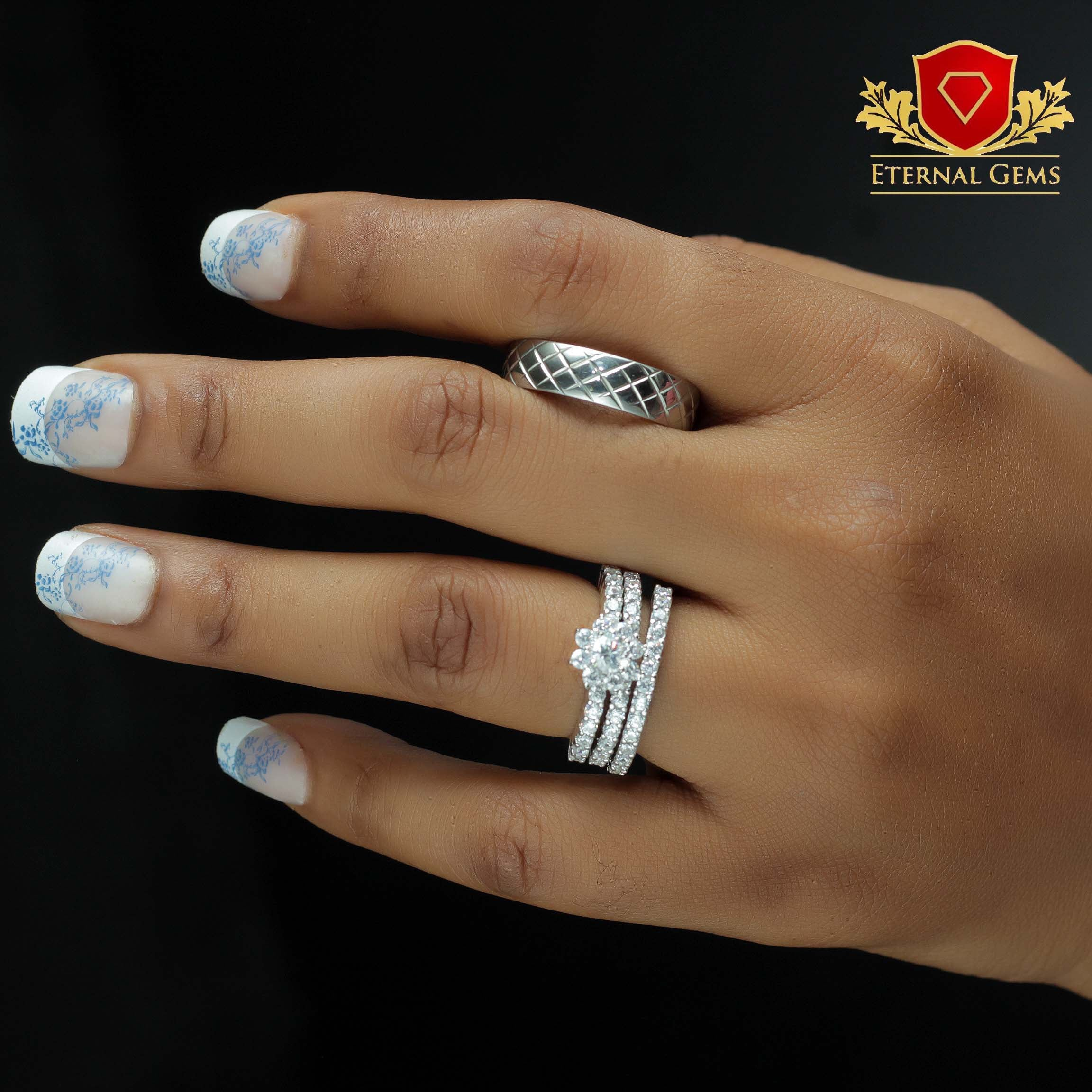 Sterling Silver Wedding Sets