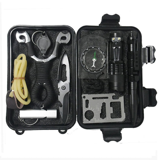 c1d6bc12de2 10 in 1 Outdoor Emergency Tactical Survival kit with Slingshot ...