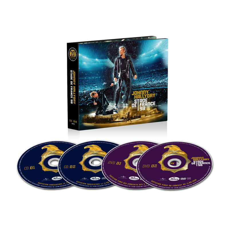 Hallyday Stade de France 98 - 2CD + 2DVD