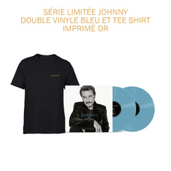 JOHNNY - Double Vinyle Bleu + T-shirt Noir Johnny