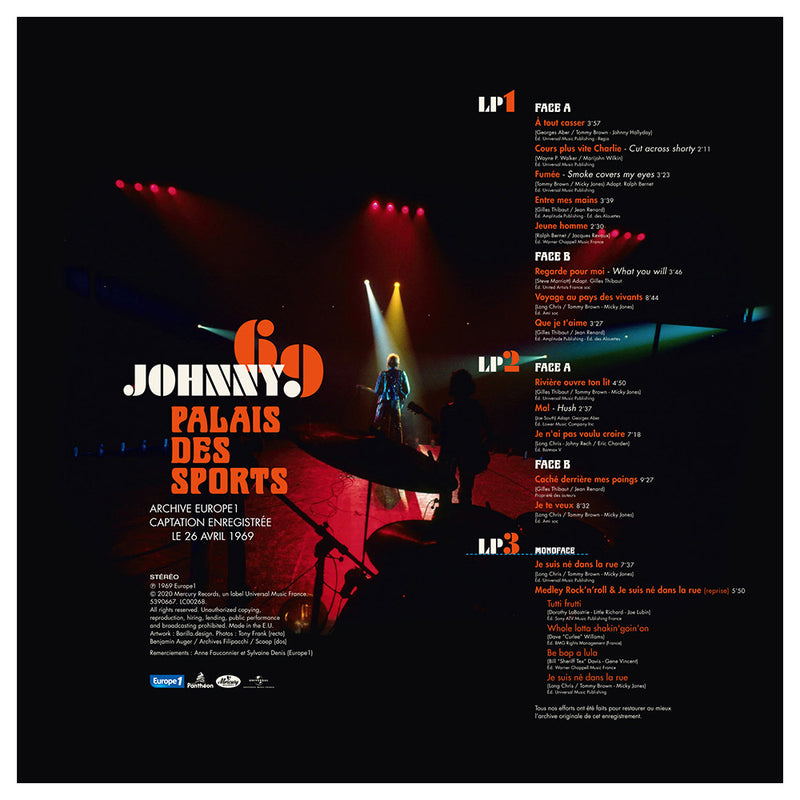 "JOHNNY 69 | TRIPLE VINYLE COULEUR LIVE ""PALAIS DES SPORTS"" 26.04.1969"