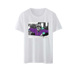 T-shirt homme blanc voiture  - Johnny Hallyday