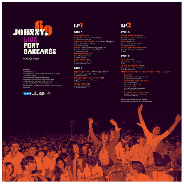 "JOHNNY 69 | DOUBLE VINYLE LIVE ""PORT BARCARÈS"" 09.08.1969"