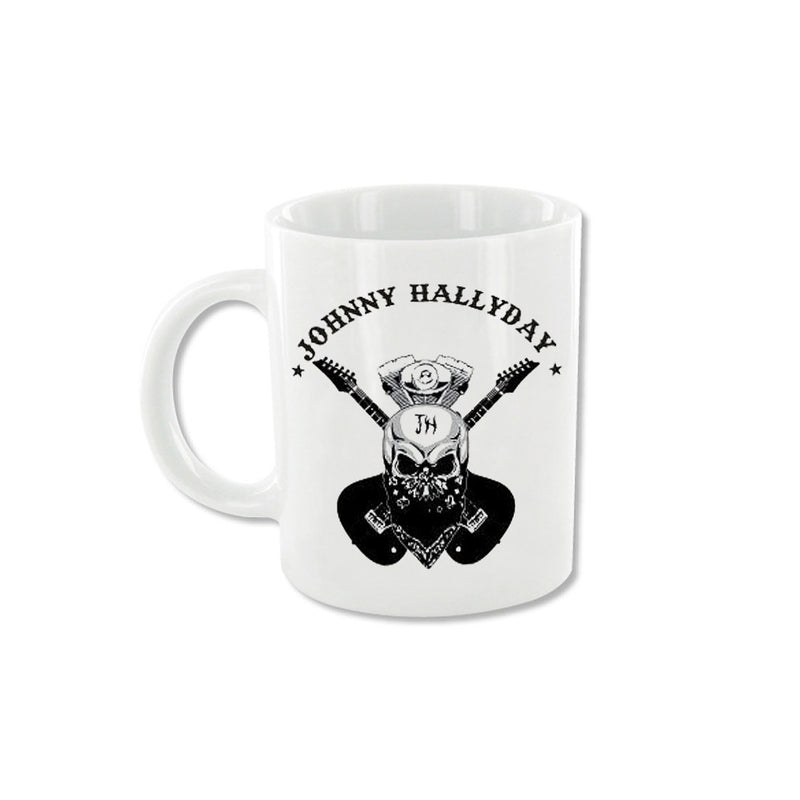 Mug Double guitare noire - Johnny Hallyday