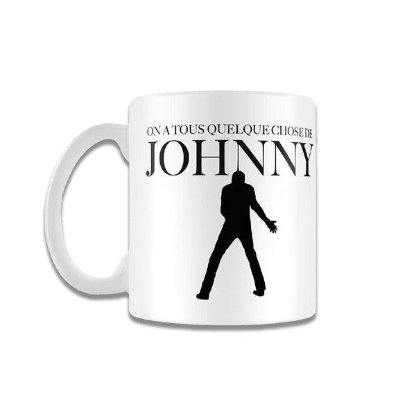 Mug Silhouette On a tous quelque chose de Johnny - Johnny Hallyday