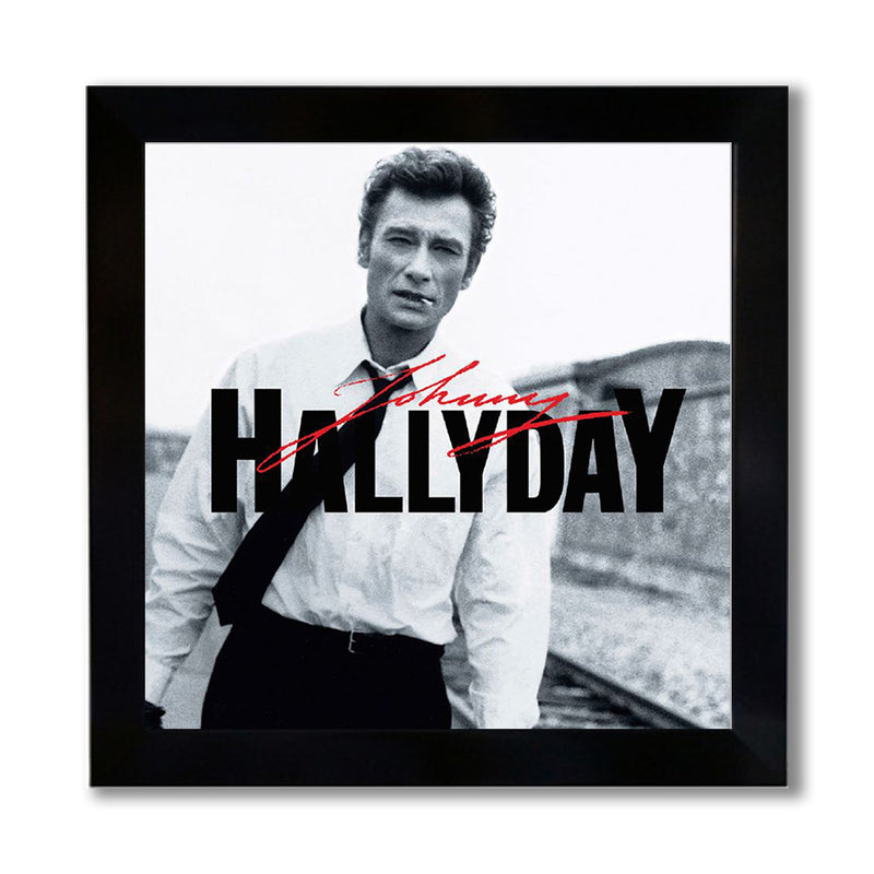 "Photo encadrée ""Rockn Roll Attitude"" - Johnny Hallyday"