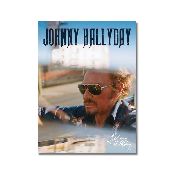 Photo portrait Johnny Hallyday Car - Johnny Hallyday